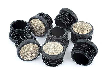 Feltrini Per Sedie Di Metallo : Piedini rotondi per mobili con feltrini per base gambe tappi a