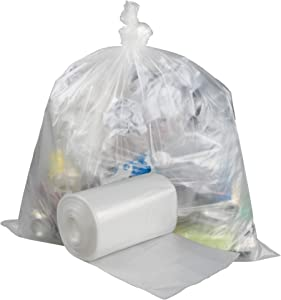 Pekky Clear Trash Bags, 18 Gallon Compactor Bags, 70 Counts