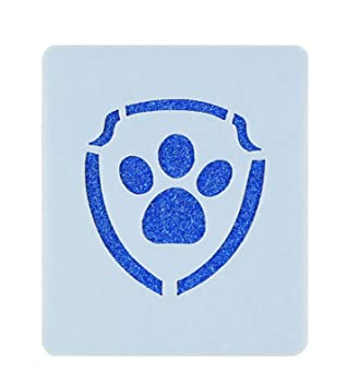 paw patrol logo face painting stencil 7cm x 6cm washable reusable