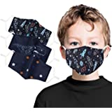 Children Face Mask Washable Cotton Fabric Cloth 2 Layer Reusable Kids Cute Print
