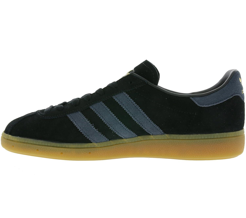 Adidas Originals München Schuhe Herren Echtleder-Sneaker Turnschuhe Schwarz Schwarz BB5295 Schwarz Schwarz bf1ee8