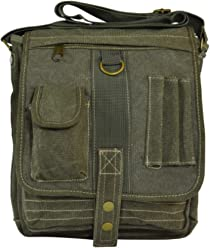 4de65fe5e8380 Classic Vintage Canvas Military Multi-purpose Messenger Organiser Crossbody  Bag