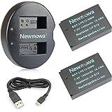 Newmowa LP-E12 互換バッテリー 2個+充電器 対応機種 Canon LP-E12 Canon EOS M M2 M10 M100 EOS 100D EOS Rebel SL1 EOS KISS X7 EOS M50