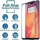 Systek OnePlus 6 Tempered Glass 5D Full Screen Protector Edge to Edge 9H Glass One Plus 6 Screen Guard [Full Glue, Anti Scratch, Full HD] 1+6 (Black)