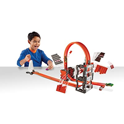 Hot Wheels Track Builder Construction Crash Kit: Toys & Games