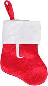 Happy Home Gifts Merry Brite Mini Monogram Stocking Letter t