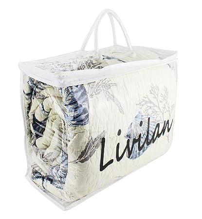 Livilan Clear Heavy Duty Vinyl Zippered Storage Bags,17X13X7 Inch, Pack Of  1 Jumbo