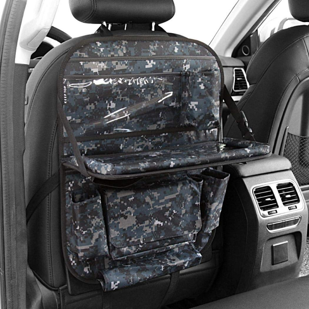 Car Seat Back Organizer,Car Organizer for Kids Toy Bottles Storage Foldable Dining Table Clear Tablet Holder Family Road Trip Accessories (Forest camouflage) by SCHANIN (Image #4)
