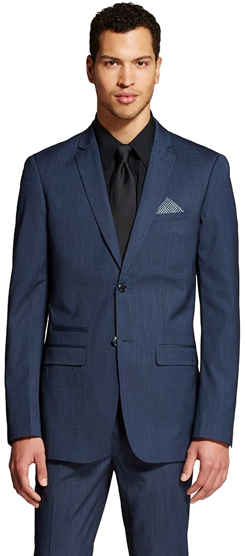 35032052 WD NY Black Men's Big & Tall Slim Fit Suit Blazer (Medium Tall ...