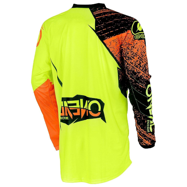 ONeal Herren Motocross Jersey Element Burnout XL Hi-Viz Gelb Orange 0008