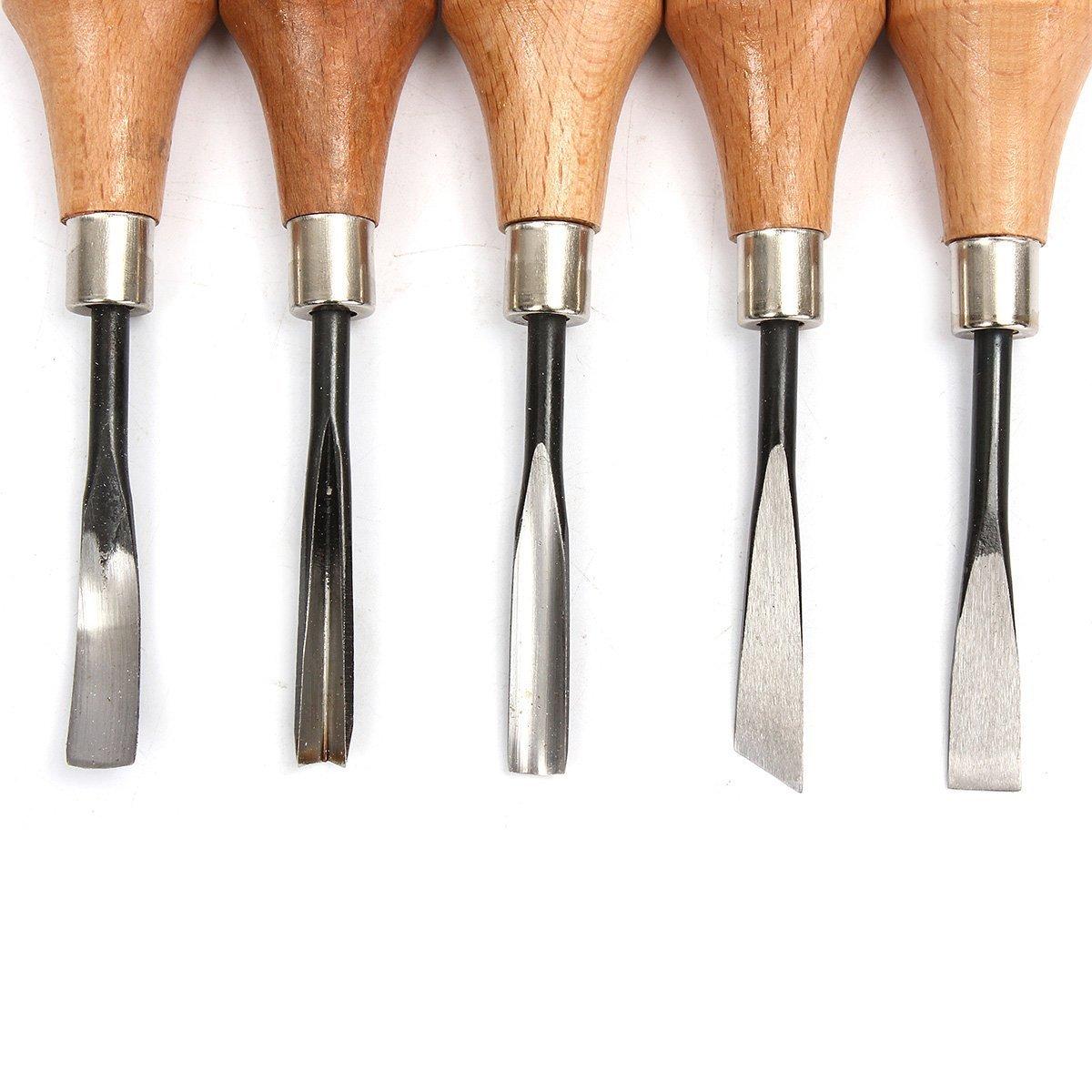 Strumento di lavoro mano carving scalpelli carving cucchiai ciotole set di bricolage per tornio Woodcut