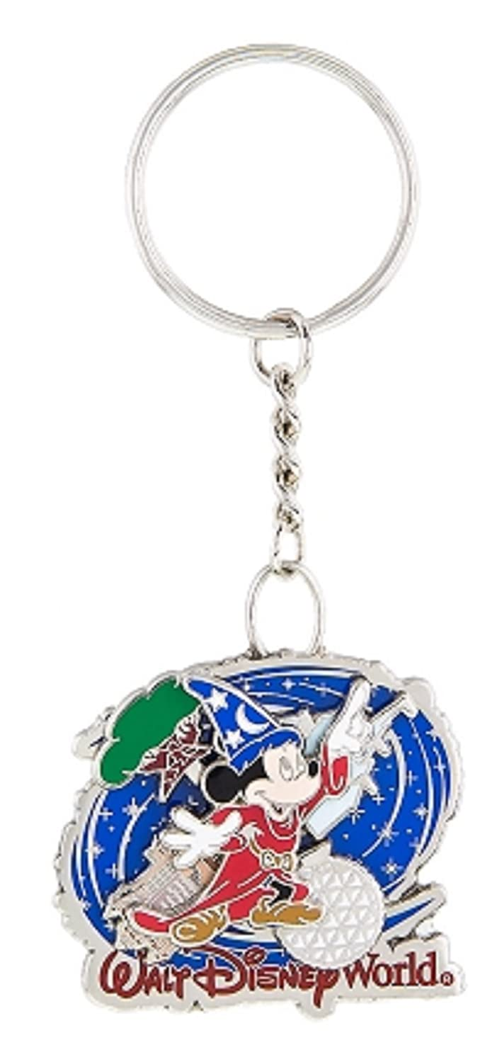 Disney Parks Keychain - Sorcerer Mickey Mouse - Four Parks Spinner