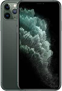 ابل ايفون 11 برو ماكس مع فيس تايم - 64 جيجا، رام 4 جيجا، الجيل الرابع ال تي اي، اخضر، شريحة اتصال فردية وشريحة الكترونية