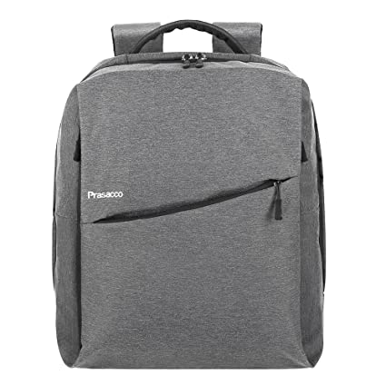 571f54cbcc75b PRASACCO Laptop Rucksack Backpack für 14 Zoll Notebookrucksack mit Fächern  Herren Business Rucksack Daypack wasserabweisend geeignet