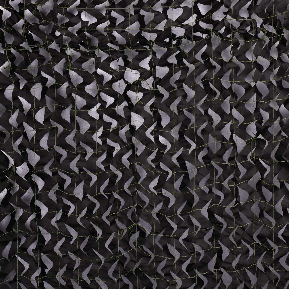 Filet de Camouflage pour Couverture Voiture Chasse Cach/ée Militaire Auvents Noirs Auvent de terrasse Filet de Protection Solaire Plusieurs Tailles Tentes R/ésistantes Pr/évention Incendie Lgnifuge