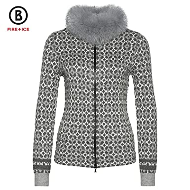 0e9aa08022d6 Bogner Fire + Ice Mirela Full Zip Sweater with Real Fur Womens at Amazon  Women s Clothing store
