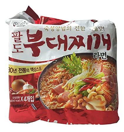 Amazon.com : Paldo Korean Ramen Family Pack (Budae Jigae) : Grocery & Gourmet Food