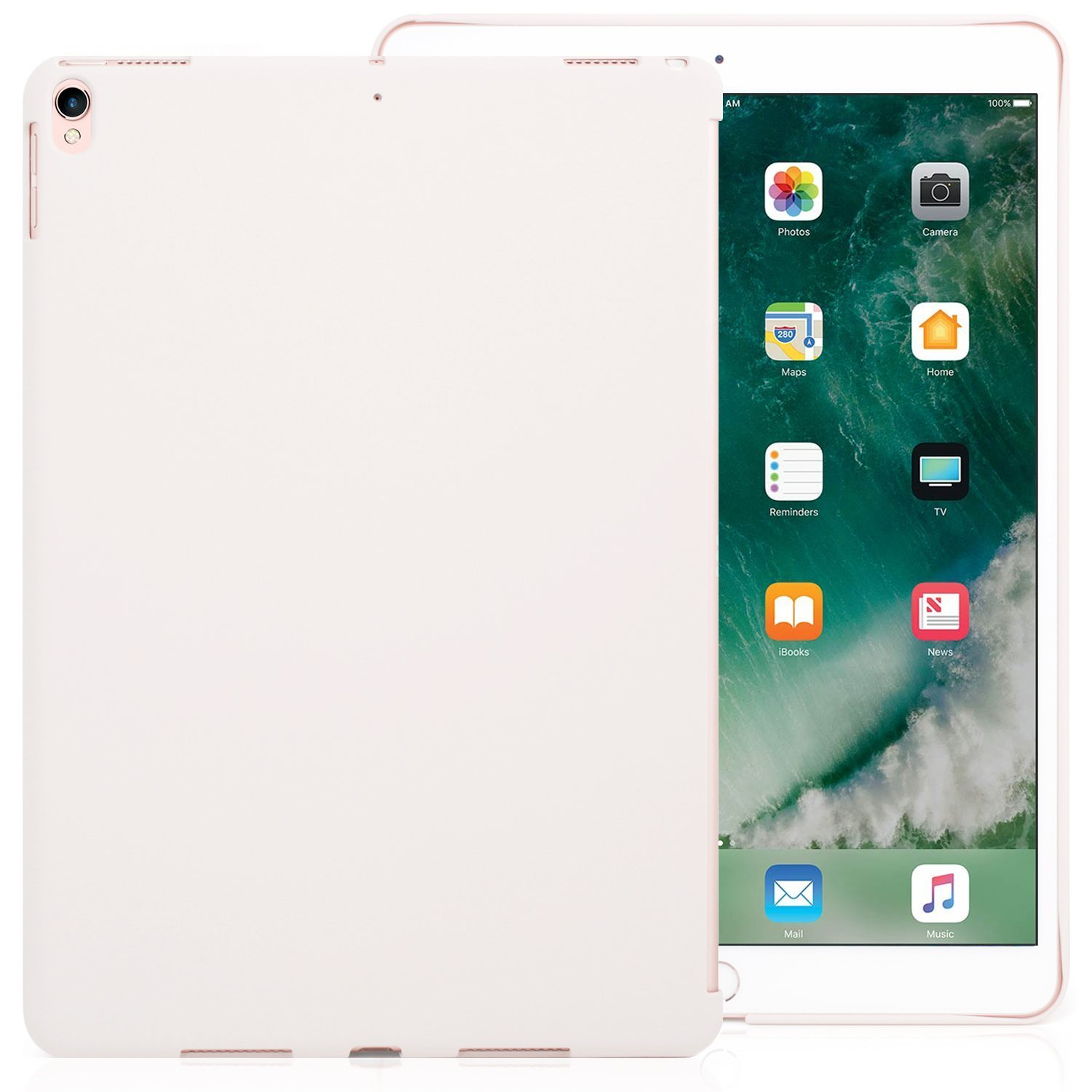 Amazon.com: iPad Pro 10.5 Inch Charcoal White Color Case - Companion Cover Perfect match for Apple Smart keyboard and Cover.: Computers \u0026 Accessories