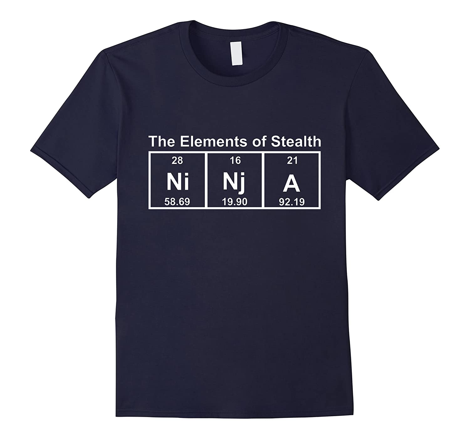 The Elements Of Stealth T-Shirt Ninja Funny Quotes Science-FL