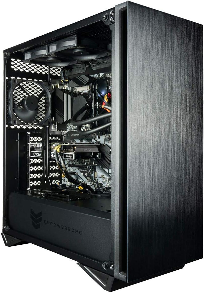 Empowered PC Sentinel Gamer PC (Liquid Cooled i9 K-Series, 64GB RAM, 1TB NVMe SSD + 2TB HDD, NVIDIA RTX 2080 Ti 11GB, 750W PSU, AC WiFi, Windows 10 Home) Gaming Tower Desktop Computer