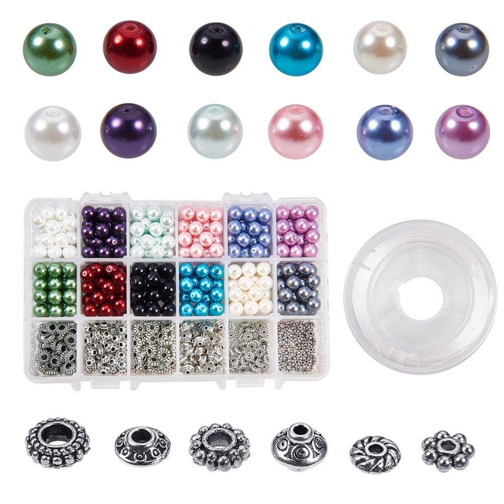 100 Stk Tibet Silber Spacer Perlen Antik Silber Farbe 6.5x4mm Perle Schmuck Diy