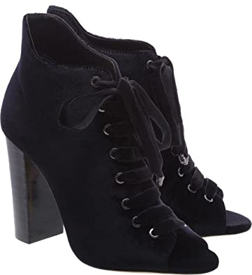 3976309ea813 Schutz-Women-039-s-Black-Neapoli-Velvet-High-