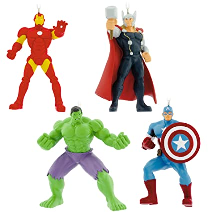Hallmark Avengers Collector Set of Four Christmas Ornaments - Amazon.com: Hallmark Avengers Collector Set Of Four Christmas