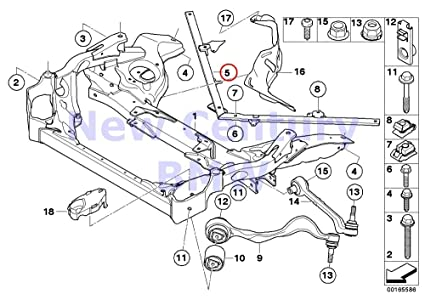 Amazon com: BMW Genuine Front Axle Support Wishbone/Tension
