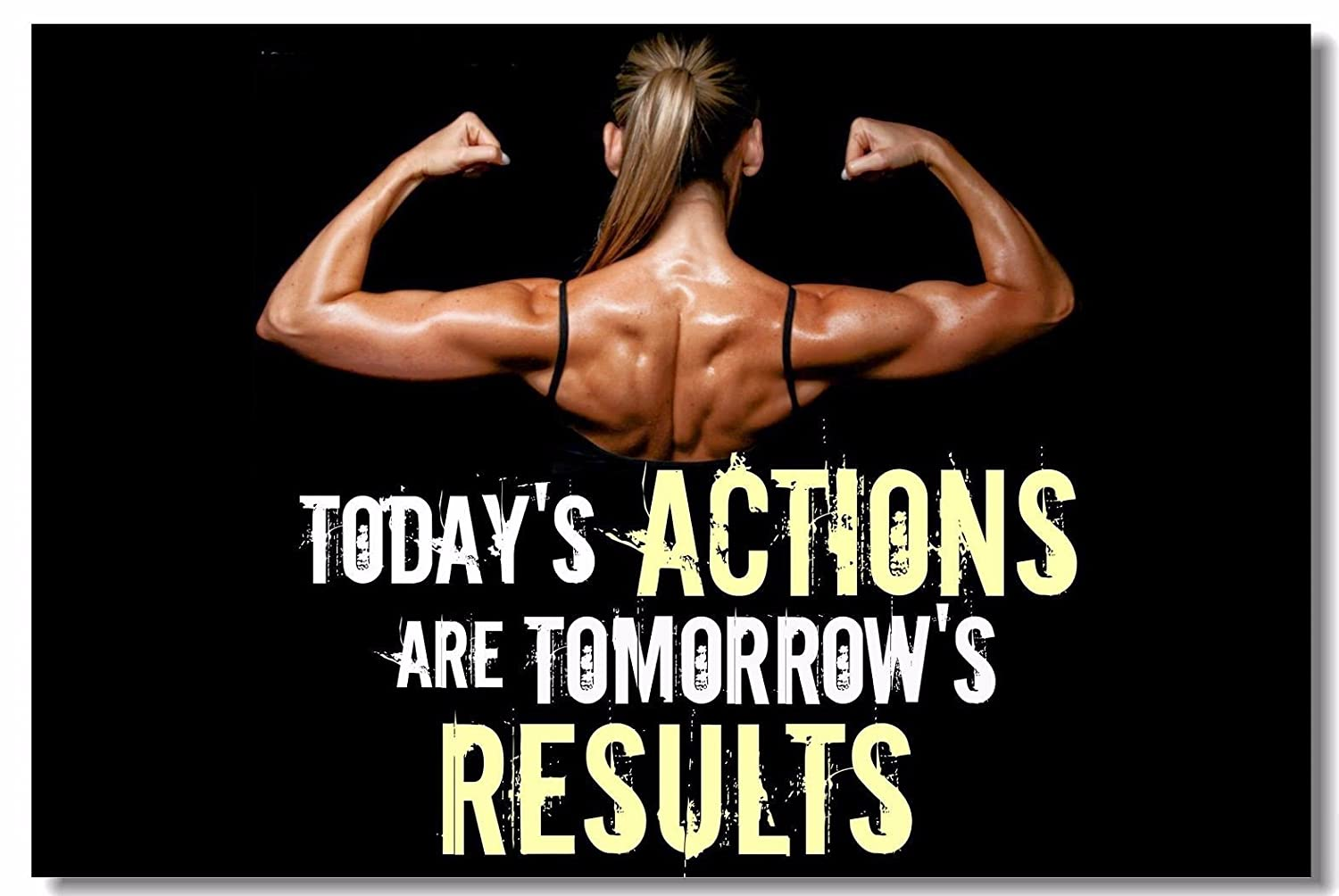 1x Poster Fabric Bodybuilding Men Girl Fitness Workout Quotes Motivational  Inspiration Muscle Gym Font 35 5x23 5