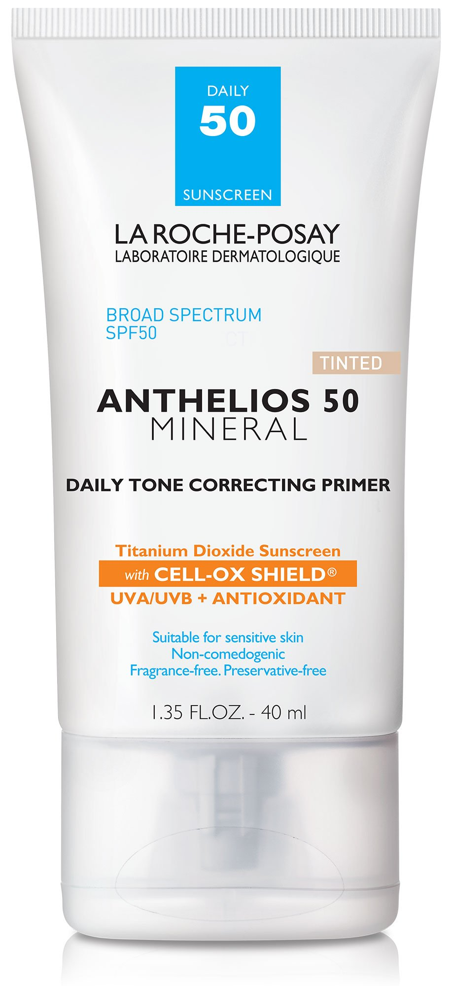 La Roche-Posay Anthelios Daily Tone Correcting Tinted Primer with SPF 50 Mineral Sunscreen, 1.35 Fl. Oz.
