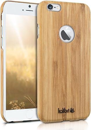 kalibri Cover Compatibile con Apple iPhone 6 / 6S - Cover Rigida in Legno Naturale - Back-Case Backcover - Custodia Protettiva