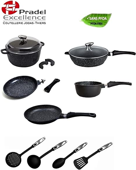 Pradel Excellence Batterie De Cuisine Facon Pierre 15 Pieces