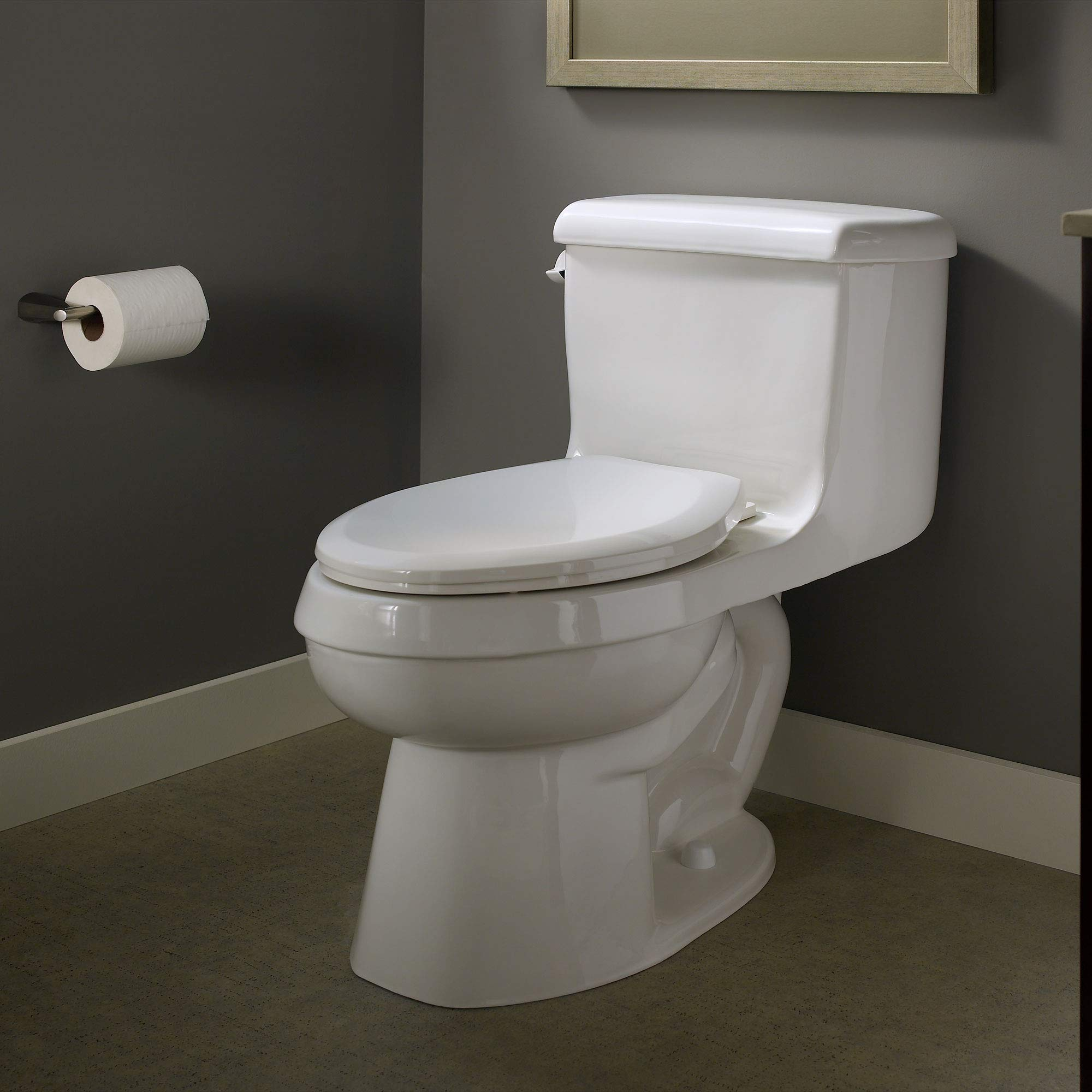 American Standard 5321A65CT.020 Champion Slow-Close Elongated Toilet Seat, White by American Standard (Image #2)