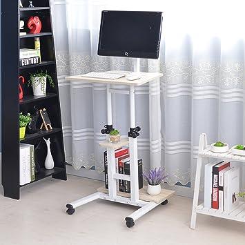 soges adjustable stand up desk computer stand computer desk workstation with standing u0026 seating beige