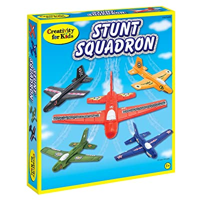 Creativity for Kids Stunt Squadron Craft Kit - Create 5 Foam Planes: Toys & Games