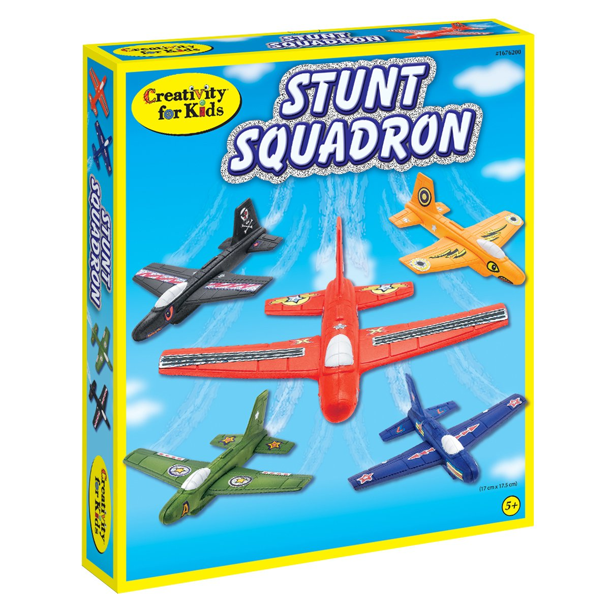 Faber Castell Creativity for Kids Stunt Squadron Craft Kit - Create 5 Foam Planes