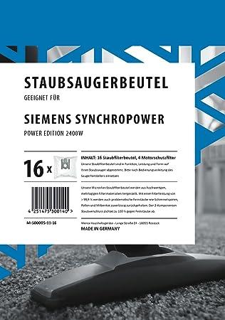 20 Staubsaugerbeutel Für Siemens VS 06G2410 Synchropower Power Edition 2400 W