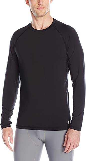 Camiseta deportiva de manga larga para hombre, negra, peque?a: Amazon.es: Ropa y accesorios