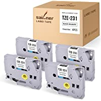 SAILNER Compatible Label Tape Replacement for Brother TZe231 TZe-231 TZ-231 TZ231 use with P Touch PT-D210 PT-D400 PT…