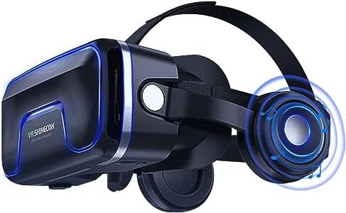 Gafas Virtual 3d, lekamxing 3d realidad virtual (VR) Gafas + Mando ...