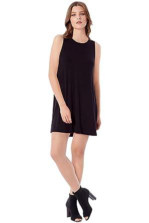 9439583cfe028e Rohb by Joyce Azria Seville Sleeveless Mini Swing Dress (Black) Size XS