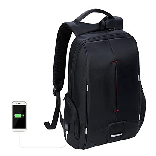 ab8d036fd4a8 Amazon.com  Nutsima 17 Inch Laptop Backpack Usb Charger Student Backpack 15  Inch Travel Bag Waterproof Backpack 17.3 Inch Backpack Men Women  Clothing