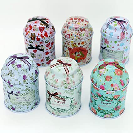 TooGet Elegant Tinplate Empty Tins, Home Kitchen Storage Containers, Shabby  Chic Tins For DIY