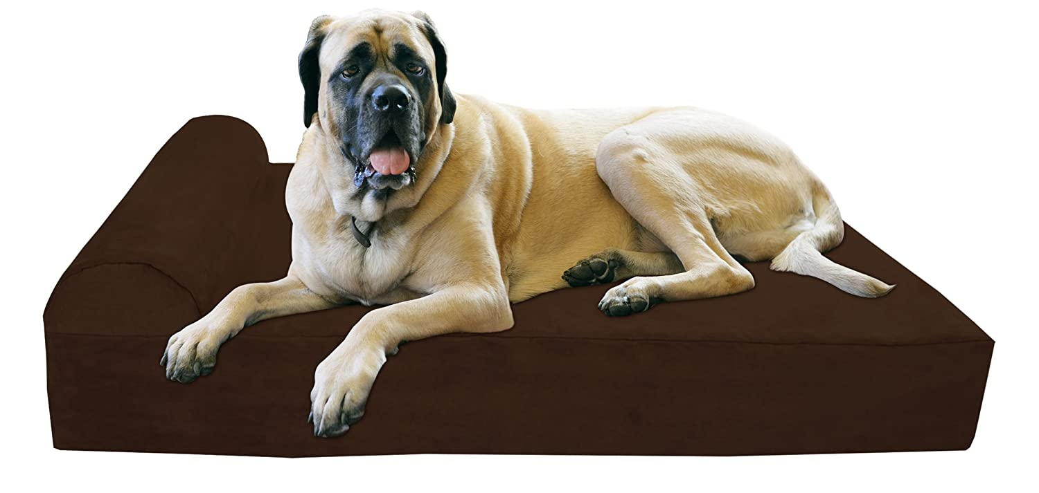 "Big barker 7"" pillow top orthopedic dog bed (headrest edition) - best orthopedic dog bed"