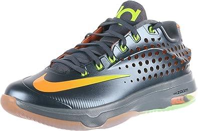 Nike Mens KD VII Elite Blue Graphite/Volt-Bright Citrus-Dove Grey Synthetic