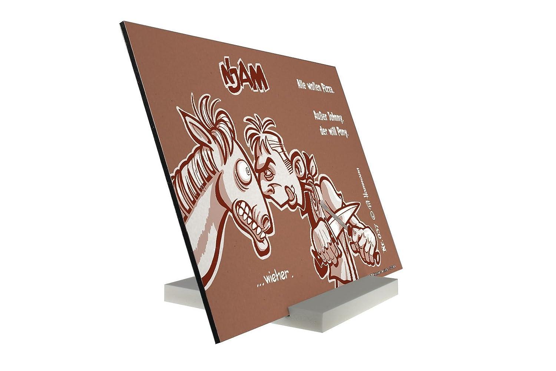 Soporte Fotografias Dibujos Animados Pit Hammann Johnny quiere Pony Pared Letrero: Amazon.es: Hogar