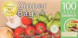Green N Pack Zipper Food Freezer Bags (Sandwich)