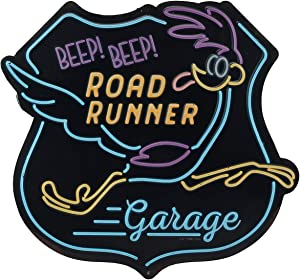 Looney Tunes Road Runner Beep Beep Embossed Metal Wall Art Sign - an Officially Licensed Product Great Addition to Add What You Love to Your Home/Garage Decor