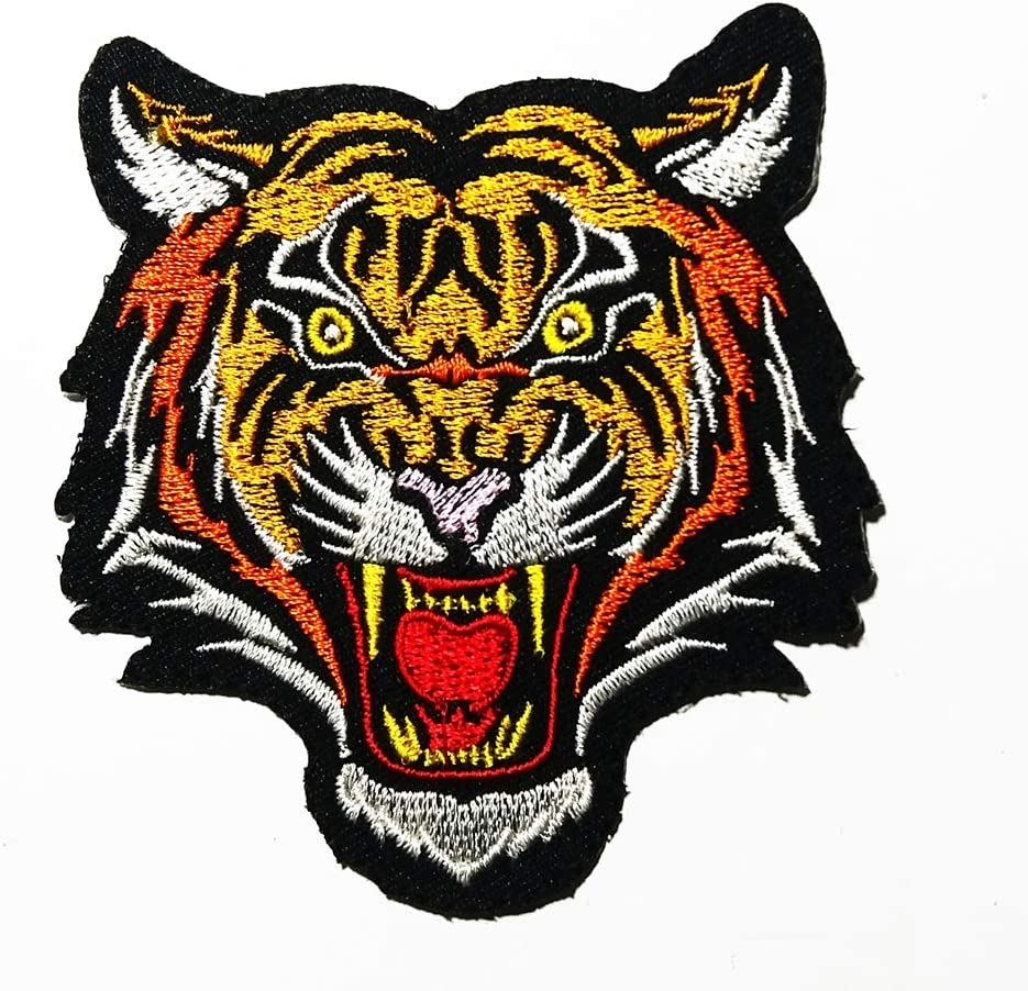 Looking Right Small Tiger Head Embroidery Patch