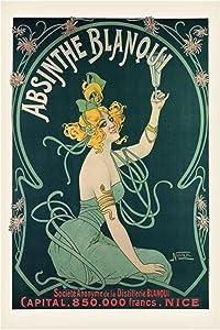 Nover Absinthe Blanqui Art Nouveau Print Cool Wall Decor Art Print Poster 24x36
